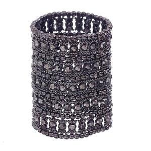 5 Row Wide Stretch Bracelet Hematite