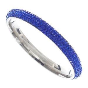 5 Row Rhinestone Bangle Blue