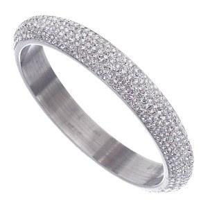 7 Row Rhinestone Bangle Crystal