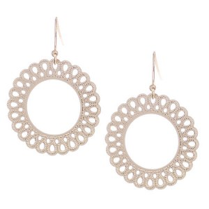 Round Cutout Earrings Gold