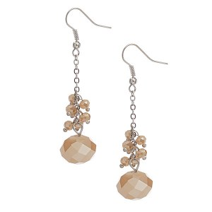 Crystal Bead Earring Honey Topaz