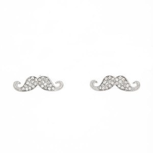 Mustache Post Earrings
