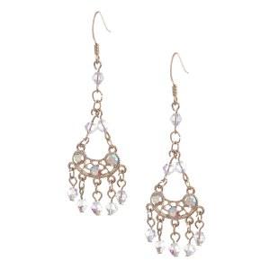 Beaded Chandelier Earrings Gold