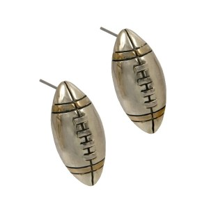 Football Two Tone Earrings