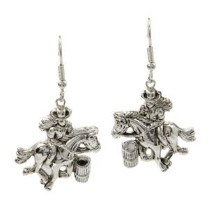 Cowgirl & Horse Earrings