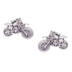 Motorcycle Post Earrings Silver