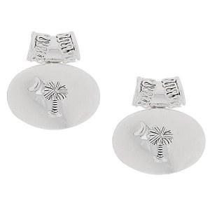 Palm Tree Post Earrings