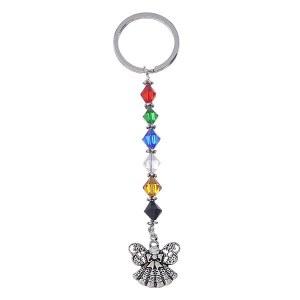 Colors of Faith Angel Key Chain