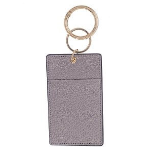 Leather ID/Card Holder Key Chain