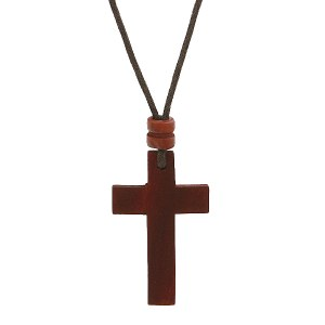 Wood Cross Necklace