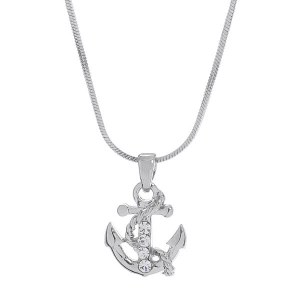 Small Anchor Pendant Necklace II