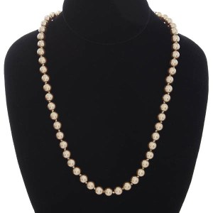 8mm Pearl Strand Necklace Gold