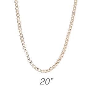 "Gold Box Chain - 20"""