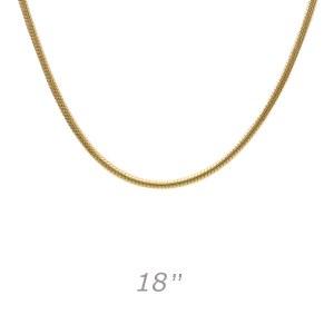 Medium Snake 18 Gold Chain