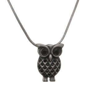 Owl Slide Jet Necklace