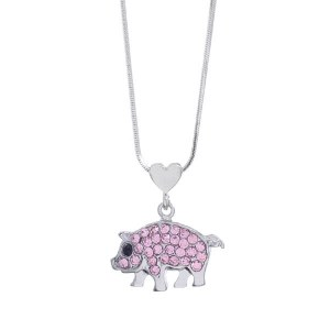 Heart & Pig Pendant Necklace