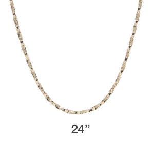 Box Rope 24 Gold Chain