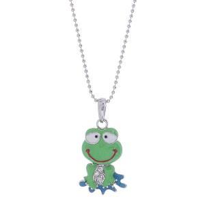 Happy Frog Pendant Necklace