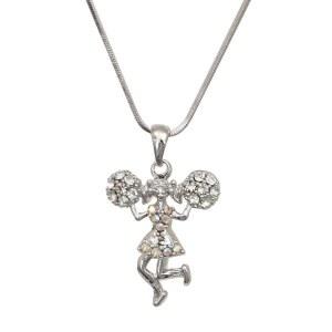 Cheerleader Pendant Necklace