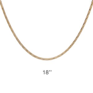 Diamond Cut Gold Snake 18 Chain