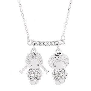 Boy & Girl Pendant Necklace