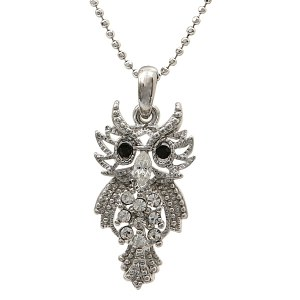 Angry Owl Pendant Necklace