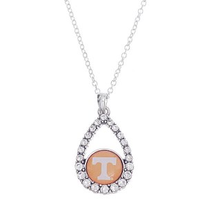 Rhinestone Teardrop Tennessee Pendant Necklace