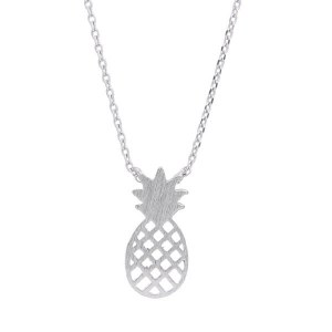 Pineapple Pendant Necklace Silver