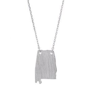 Alabama Pendant Necklace Silver