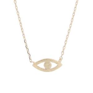 Evil Eye Pendant Necklace Gold