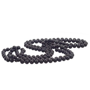 "72"" 10mm Pearl Necklace Black"