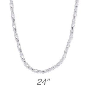 """Fancy Round Chain - 24"""""""