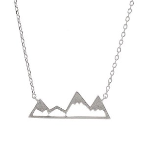 Mountain Pendant Necklace Silver