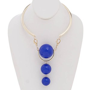 Three Ball Choker Blue