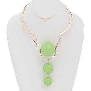 Three Ball Choker Lime Green