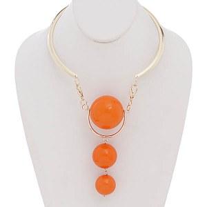 Three Ball Choker Orange