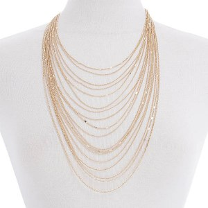 Multi-Layered Chain Necklace Set