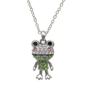 Cute Frog Pendant Necklace