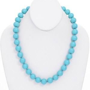 14mm Turquoise Pearl Necklace Set