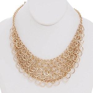 Bib Necklace Set Gold
