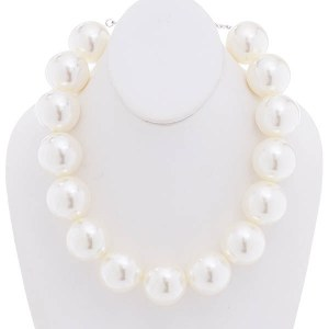 30mm Pearl Necklace Set Cream