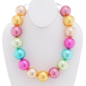 30mm Pearl Necklace Set Multi-Color