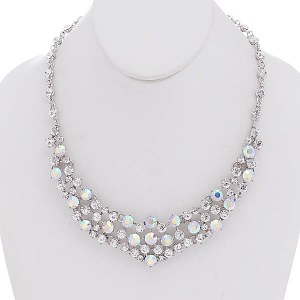 AB Clear Crystals Necklace Set 1