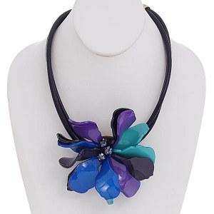 Flower Necklace Blue/Purple