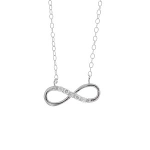 Sterling Silver Eternity Pendant Necklace