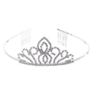 Swirl Mini Rhinestone Headband Tiara