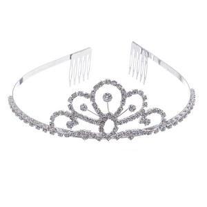 Scalloped Mini Rhinestone Headband Tiara