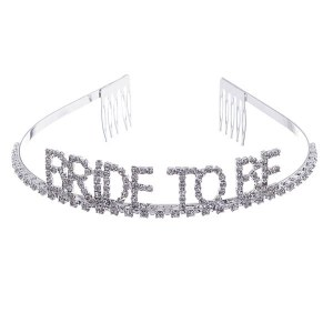 Bride To Be Rhinestone Tiara