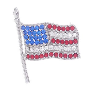 Flag Pin Silver