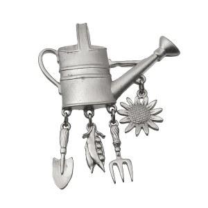 Gardening Silver Pin